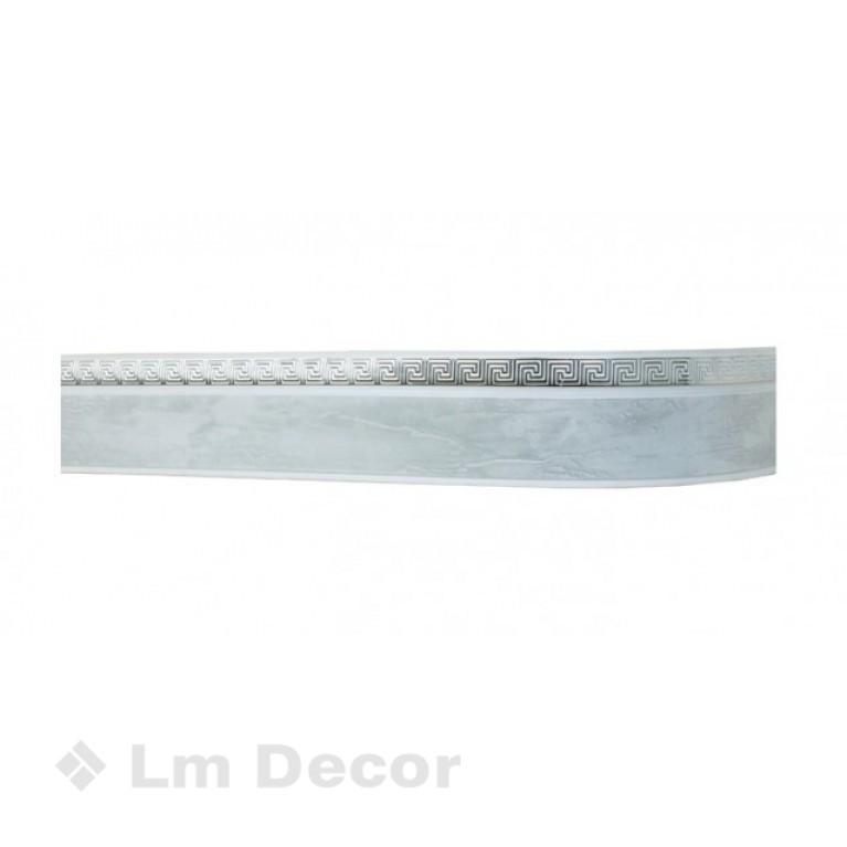 Лента «Меандр» Мрамор-хром 5см