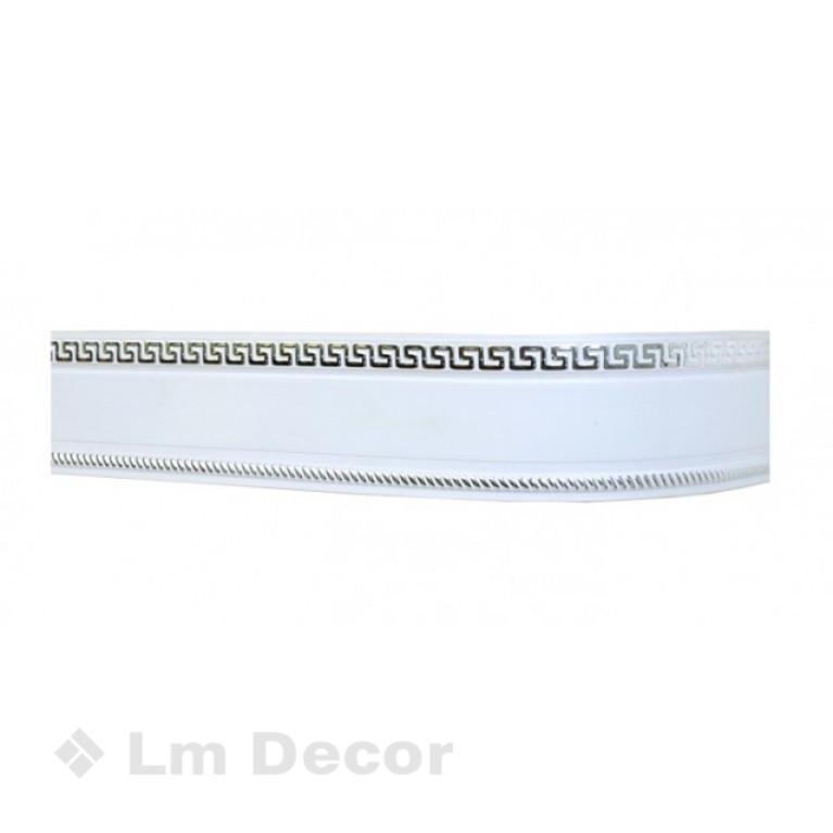 Лента «Меандр» Белое хром 7см