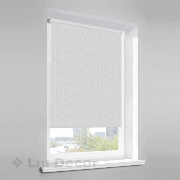 Рулонная штора «Инфинити 01»  Белая