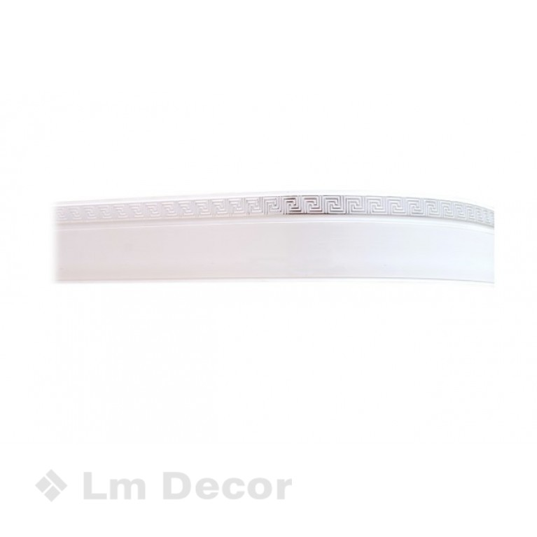 Лента «Меандр» Белое хром 5см