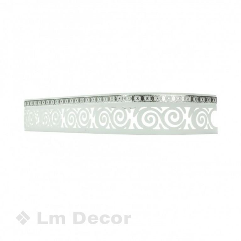 Лента «Завиток» Белое серебро 7см